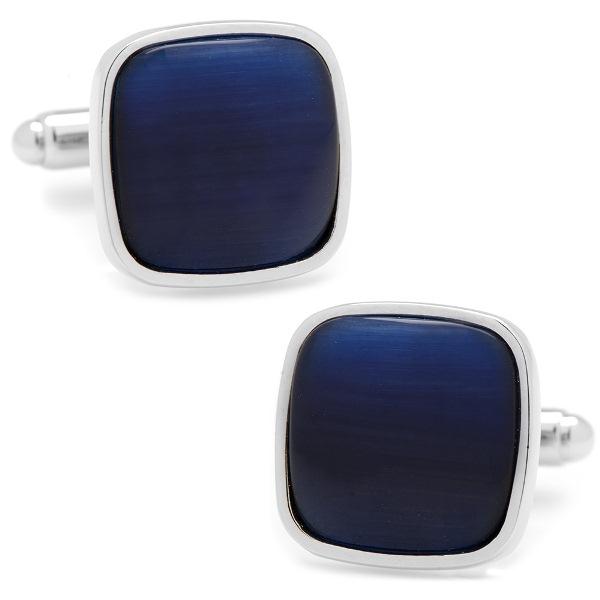 Navy Blue Fiber Optic Cufflinks