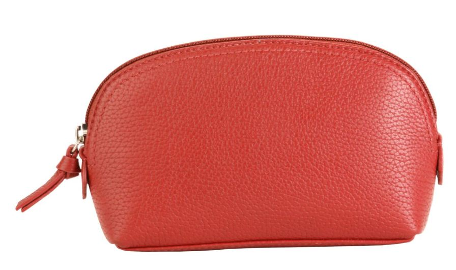 Cosmetic Pouch - Deep Red