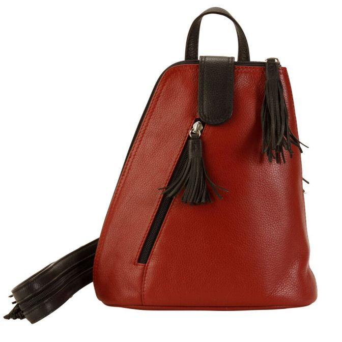Backpack - Deep Red / Black