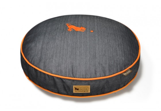Round Bed - Denim - Orange