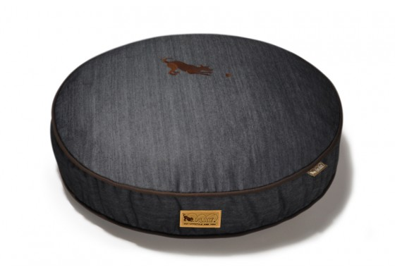 Round Bed - Denim - Brown