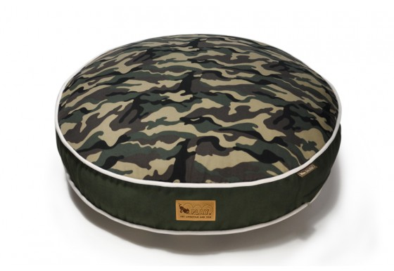 Round Bed - Camouflage - Green