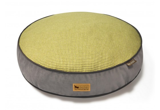 Round Bed - Houndstooth - Yellow/Brown