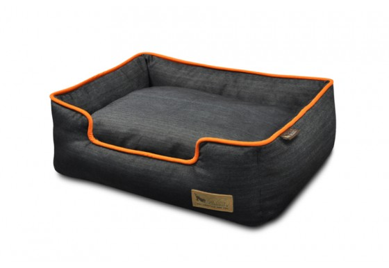 Lounge Bed - Denim - Orange
