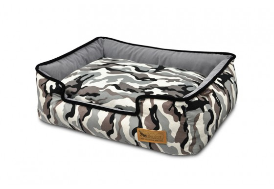 Lounge Bed -  Camouflage - White