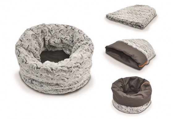 Snuggle Bed - Faux Fur/Cotton Canvas