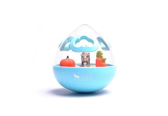 Wobble Ball 2.0 Enrichment Treat Toy - Blue