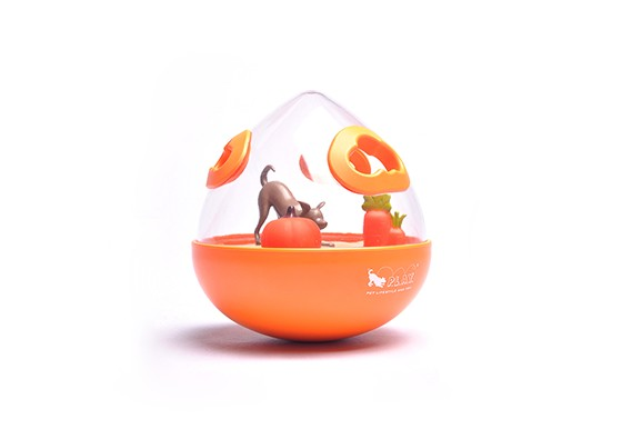 Wobble Ball 2.0 Enrichment Treat Toy - Orange