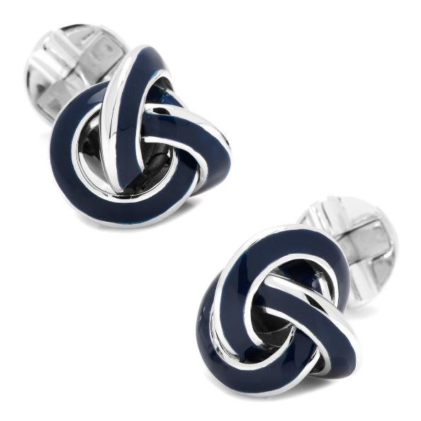 Sterling Blue Enamel Knot