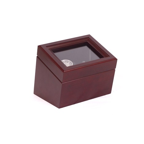 The Brigadier, Single Watch Winder in Solid Cherry Mahogany