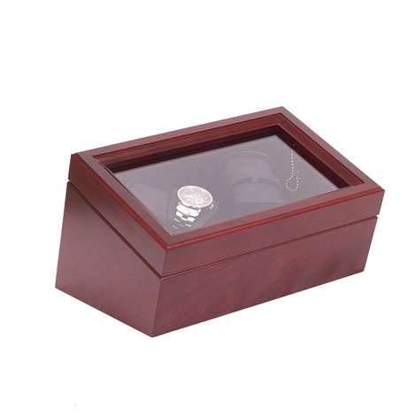 The General, Quadruple Watch Winder in Solid Cherry Mahogany