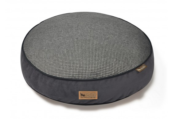 Round Bed - Houndstooth - Black/Grey