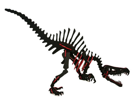 3D Dinosaur Puzzle - Spinosaurus - Two-Tone HDPE - 8 Color Combinations