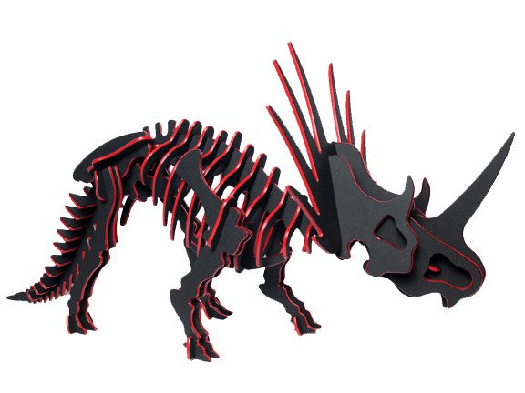 3D Dinosaur Puzzle - Styracosaurus - Two-Tone HDPE - 8 Color Combinations