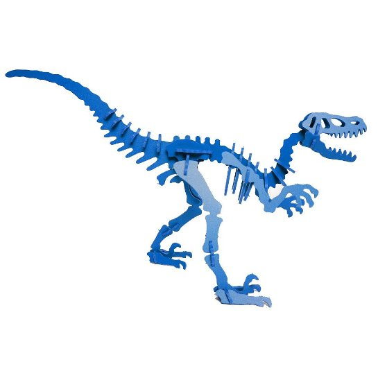 3D Dinosaur Puzzle - Velociraptor - Komatex PVC - 8 Color Options