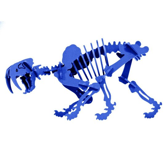 3D Dinosaur Puzzle - Smilodon - Komatex PVC - 8 Color Options