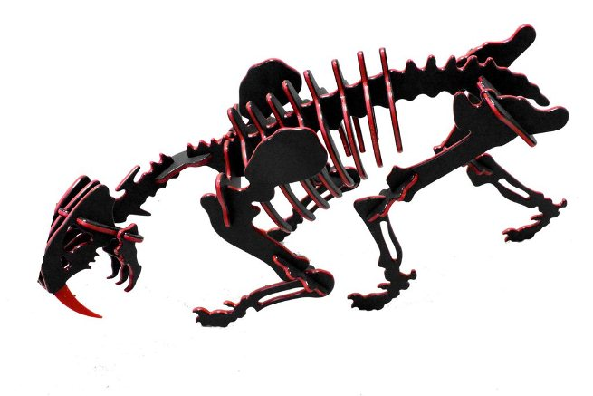 3D Dinosaur Puzzle - Smilodon - Two-Tone HDPE - 8 Color Combinations