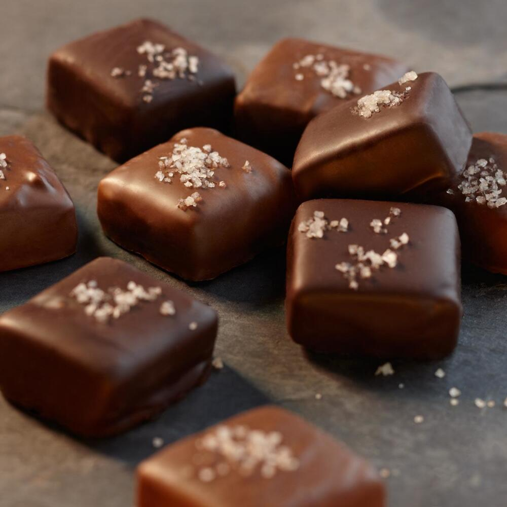 Milk and Dark Chocolate Sea-Salted Caramels Collection