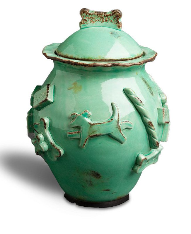 Dog Treat Jar - Green