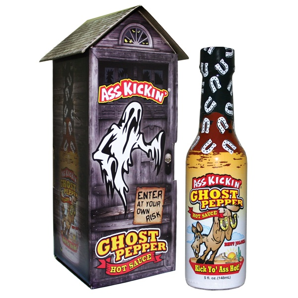 Ass Kickin' Ghost Pepper Hot Sauce with Haunted House