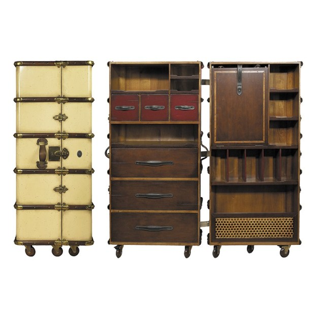 Stateroom Armoire, Ivory