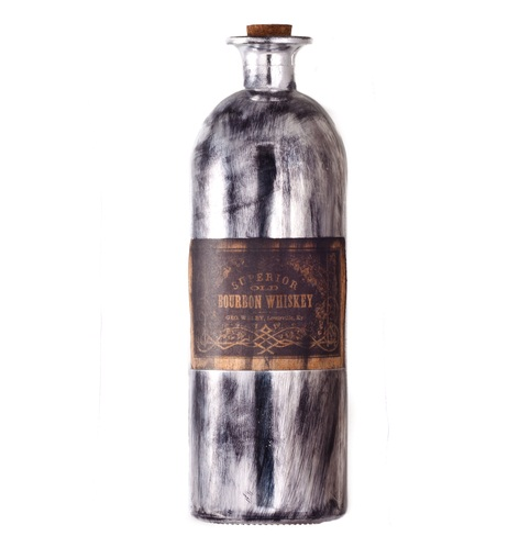 The Old Sailor Whiskey Bottle  - Antique silver