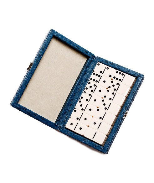 Ostrich Style Line'Em Up Domino Set - Blue Ostrich