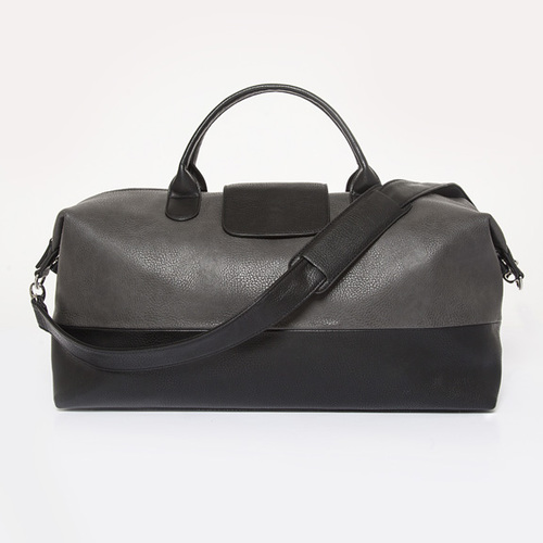 Alpha Duffel Bag  - Grey w/ Black Accents