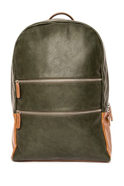Alpha Backpack - Green & Brown