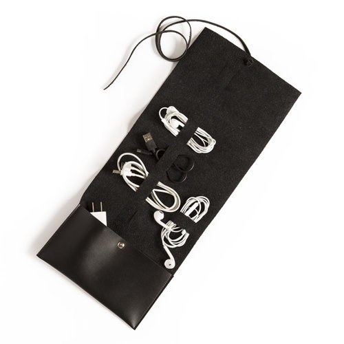 Travel Cord Roll  - Black