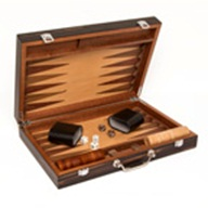 Matte Ebony Backgammon set  - Brown