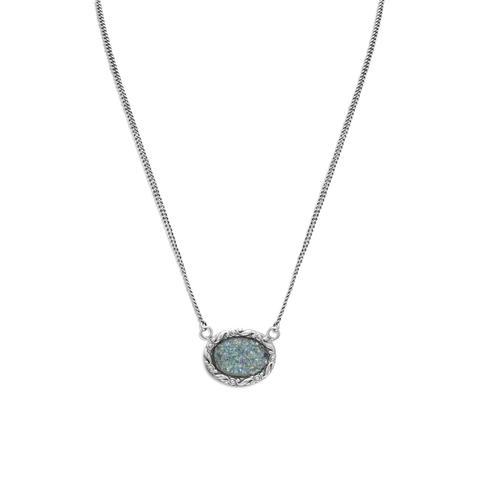 "18"" Oval Roman Glass Necklace"
