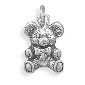 Antique Style Teddy Bear Charm