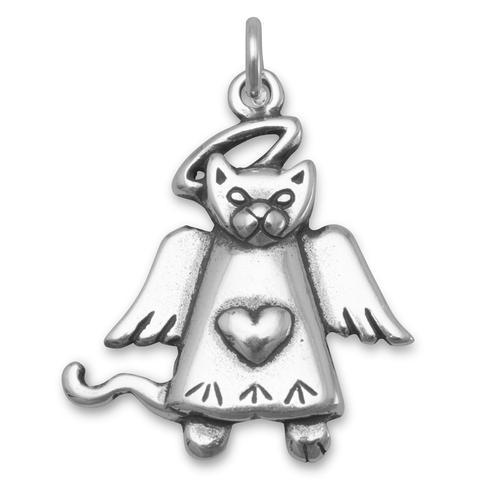 Cat Angel Charm