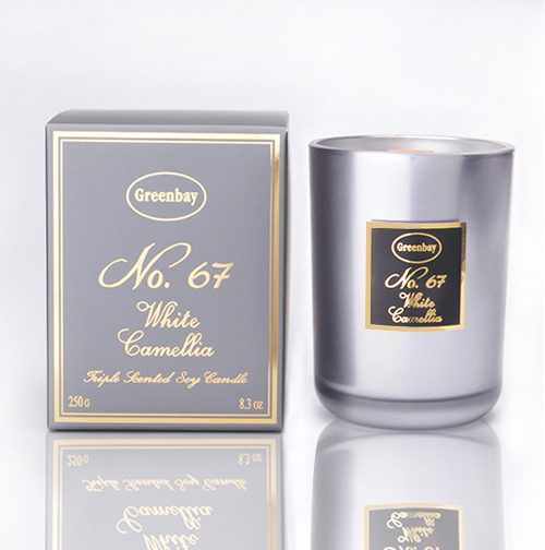 White Camellia Triple Scented Soy Wax Candle, Wood Wick, 8.3oz