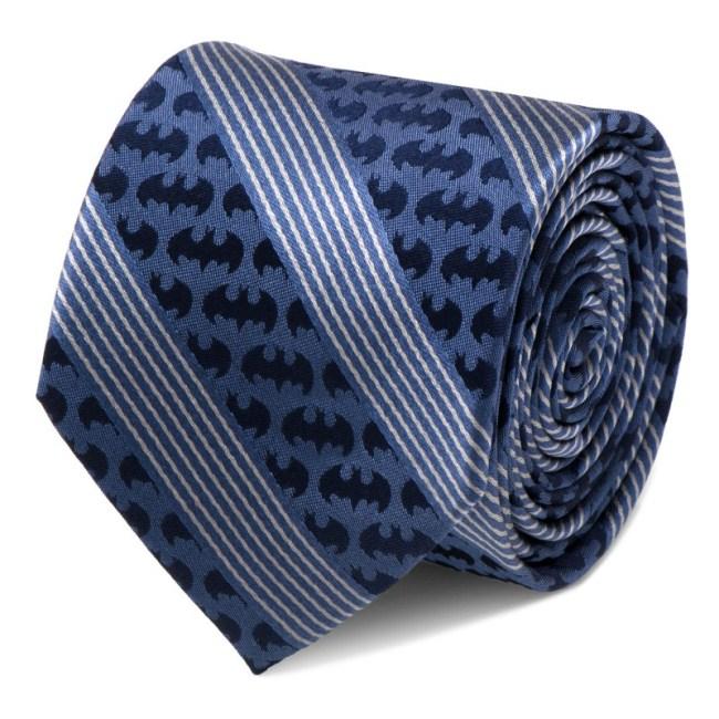 Batman Pinstripe Navy Tie