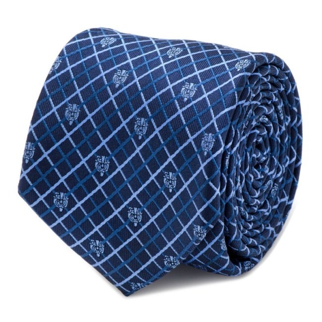 Beauty and the Beast Navy Plaid Men's Tie