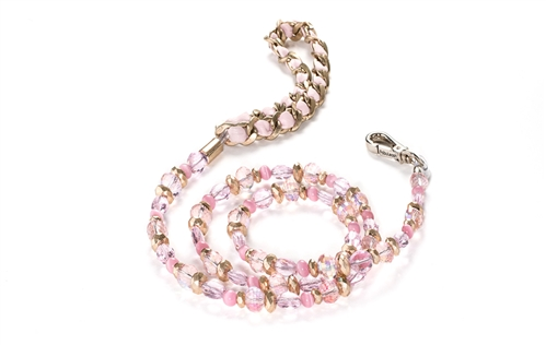 Fabuleash Beaded Dog Leash - The 5th Avenue Collection - Rose Pink