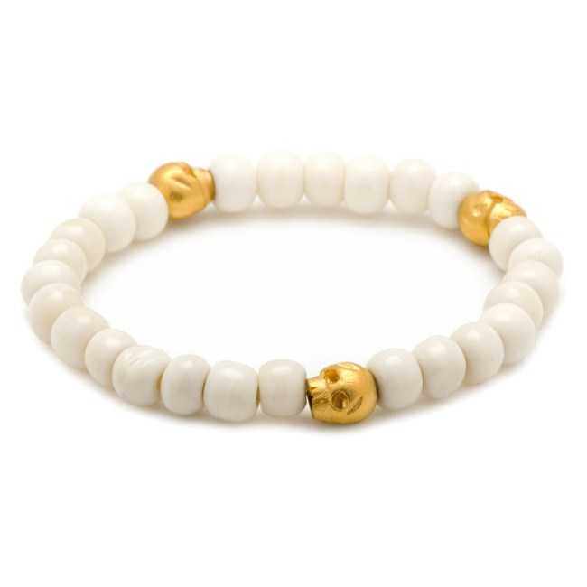 Thomas Bone Stretch Bracelet in Gold