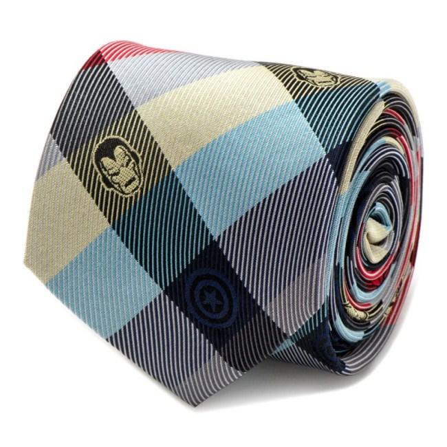 Marvel Comics Plaid Men's Tie