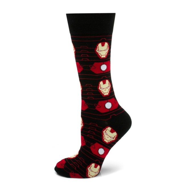 Iron Man Stripe Black Socks
