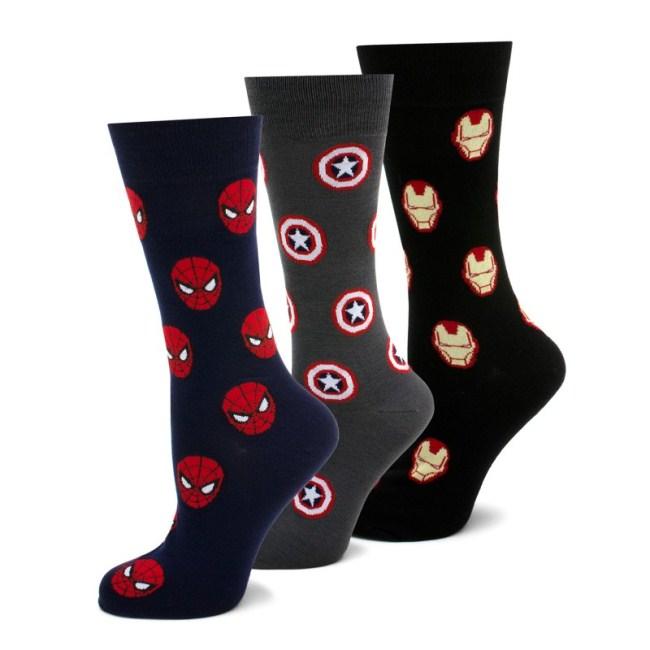 Marvel Heroes 3 Pair Socks Gift Set
