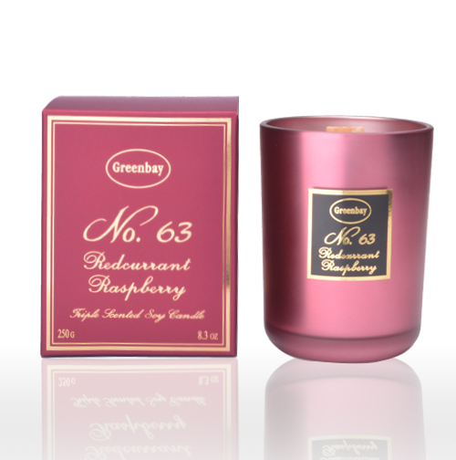 Redcurrant & Raspberry Triple Scented Soy Wax Candle, Wood Wick, 8.3oz