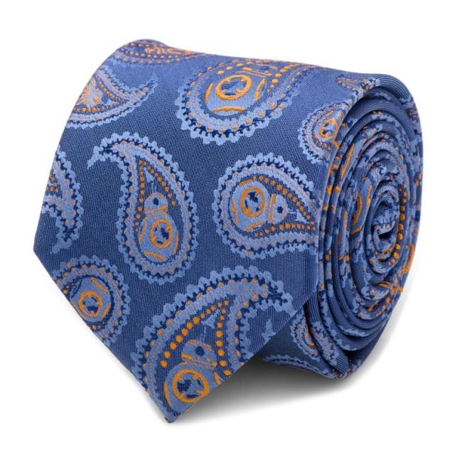 BB-8 Blue Paisley Tie