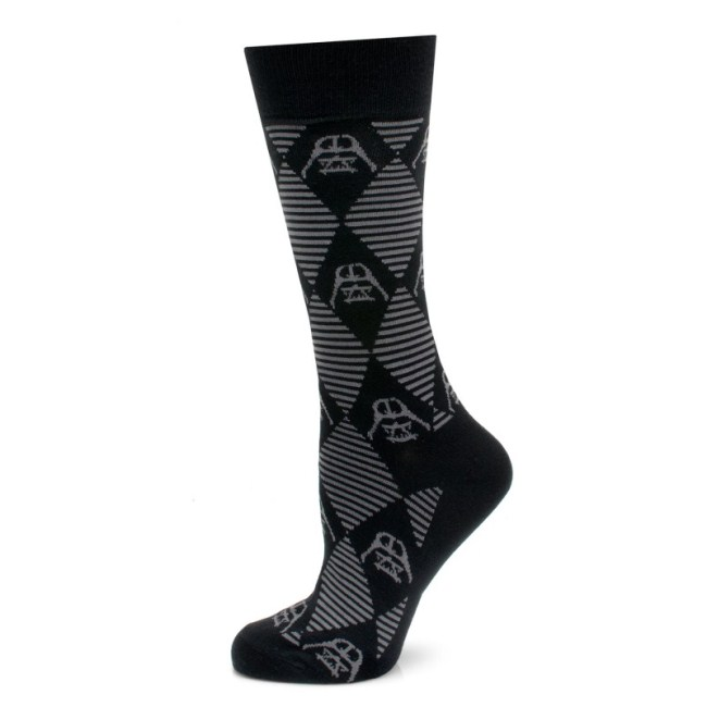 Darth Vader Argyle Stripe Black Socks