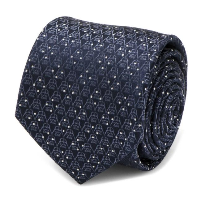 Darth Vader Navy Diamond Dot Men's Tie