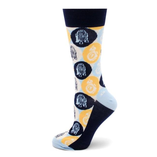 R2D2 and BB-8 Pop Art Socks