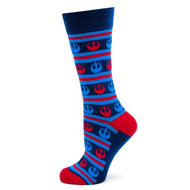 Rebel Stripe Navy Socks
