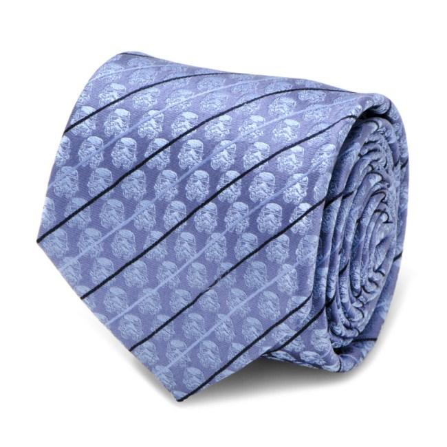 Stormtrooper Blue Modern Stripe Men's Tie