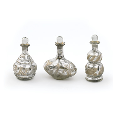 Set of Three Mercury Decanters